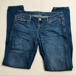 Aeropostale Skinny Jeans Medium Wash Size 8 Long